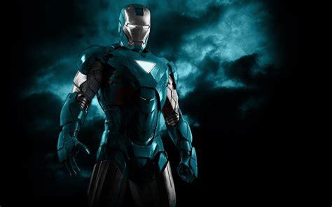 black robot wallpaper blue iron man robots superheroes armor black background
