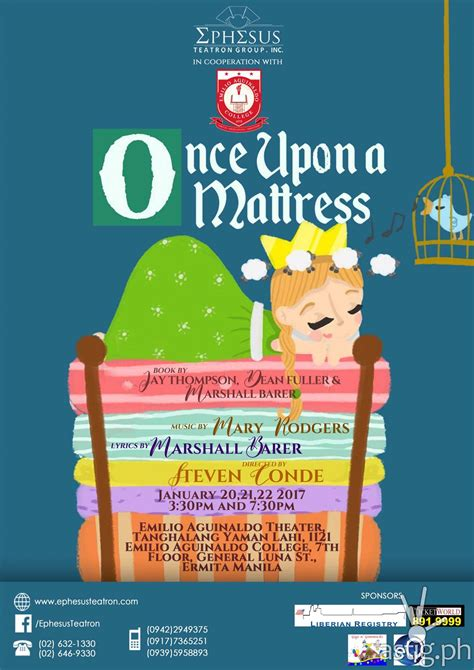 Once Upon A Mattress by Ephesus Teatron S Opening Salvo 2017 Quot Once Upon A Mattress