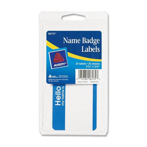 printable adhesive name tags avery printable name badges removable adhesive quot hello