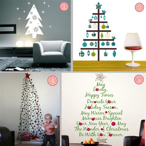 Wall Sticker Art Uk easy holiday decor 9 cool christmas tree wall decals