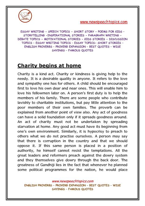About Charity Essay by Help Others In Need Essay 187 Student Help