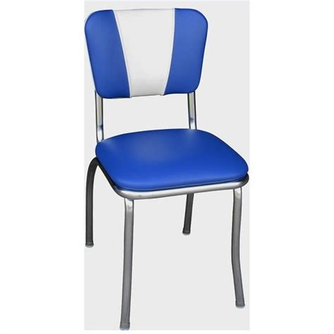 Royal Blue Dining Chairs Richardson Seating Retro 1950s Chrome Dining Chair In Royal Blue And White 4120rbl