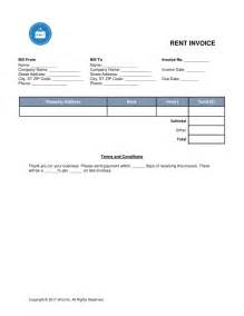 Rent Invoice Template Excel by Rental Invoice Template Word Rabitah Net