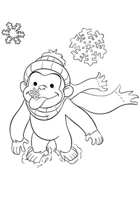 Merry Curious George Coloring Pages Curious George Winter Coloring Page Winter Olympics by Merry Curious George Coloring Pages