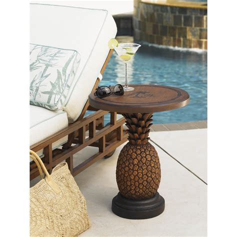 Pineapple Table L Bahama Alfresco Living Patio Pineapple Side Table In Brown 3100 200
