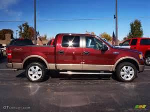 2006 ford f150 lariat supercrew 4x4 dark toreador red metallic color