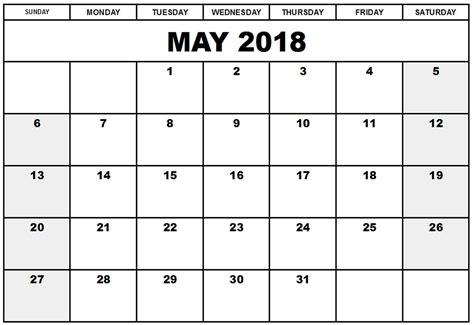editable 2018 calendar template printable may 2018 calendar editable