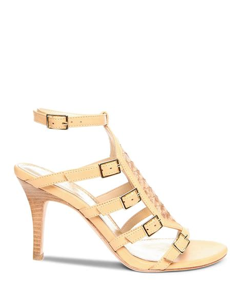 beige heeled sandals donald j pliner open toe sandals tenasp high heel in