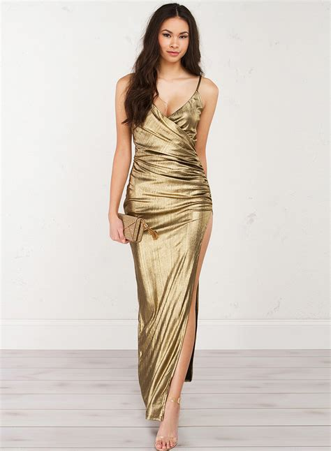 Sleeveless Maxi Evening Dress v neck sleeveless backless slit maxi evening dress