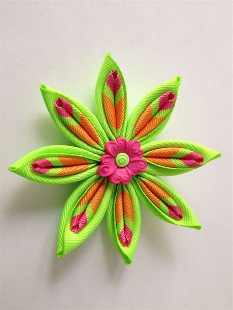 Handmade Flowers With Ribbons - 217 best handmade accessories images on