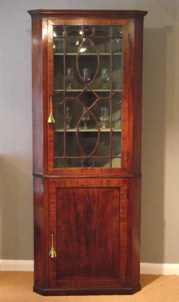 Georgian Display Cabinet Georgian Corner Display Cabinet Antique Corner Cupboard
