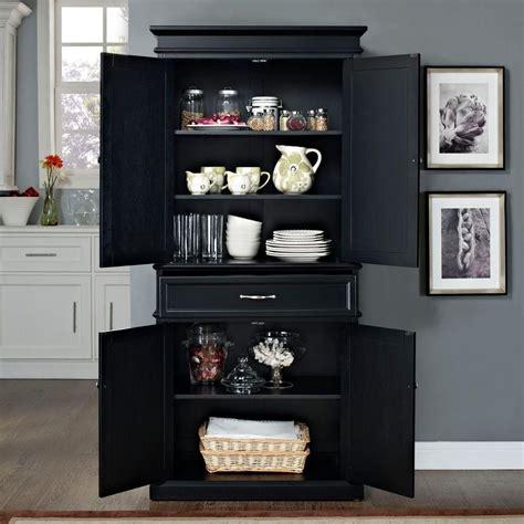 kitchen storage furniture pantry crosley parsons black storage cabinet cf3100 bk the home depot