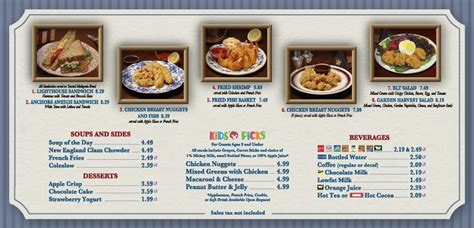 Columbia Harbour House Menu Wdw Fan Zone