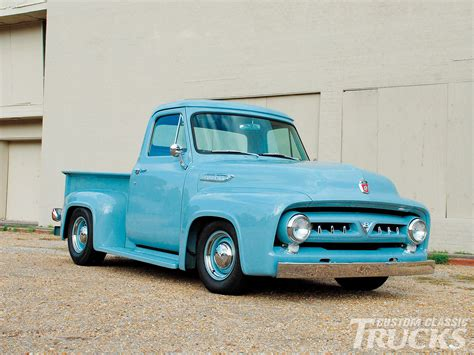 Cool Ford Trucks 1953 Ford F 100 Cool As A Glacier Rod Network