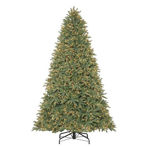 artificial trees lowes shop living 9 ft pre lit fir artificial