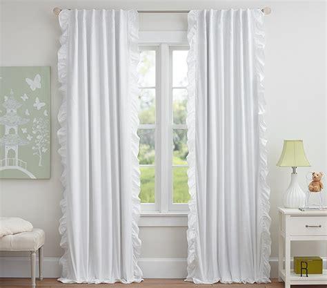 White Ruffle Blackout Curtains White Ruffle Trim Blackout Curtains Curtain Menzilperde Net