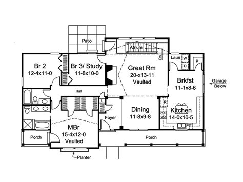 royalview atrium ranch home plan 007d 0236 house plans