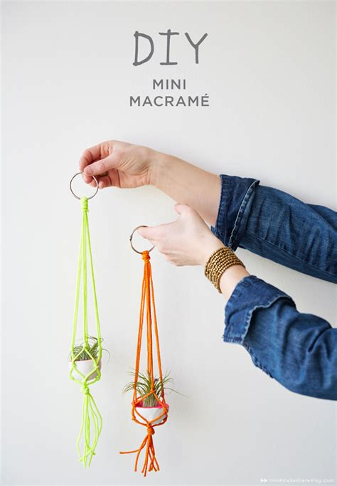 How To Make A Plant Hanger Out Of Yarn - how to diy mini macram 233 hangers creative the hanger