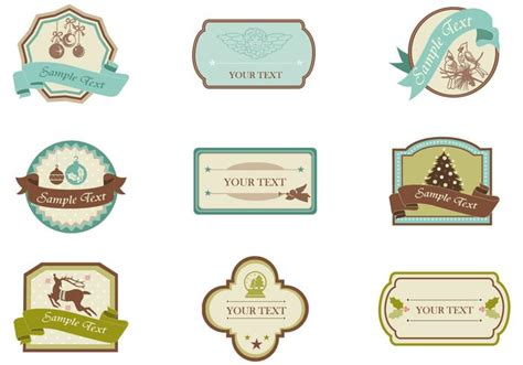 Naco Label Sticker Pack Snow vintage tag and label vector pack