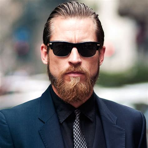 slick back hair and beard 25 top professional business hairstyles for men men s