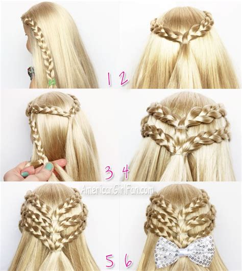 Doll Hairstyles Tutorial by Braided Half Up Doll Hairstyle American