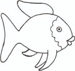 rainbow fish black and white template clipart best