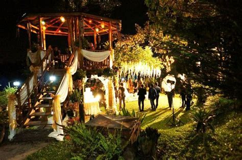 Night Wedding party , Garden party, with a gorgeous