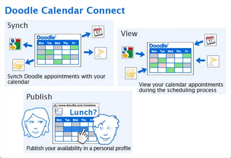 how to use doodle calendar calendar connect doodle
