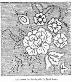 handkerchief pattern tattoo embroidery patterns beeton s book of needlework vintage