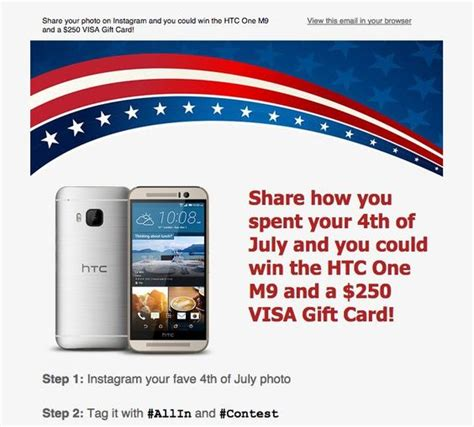 250 Visa Gift Card - free 250 visa gift card plus htc one sweeps today is the last day to enter money