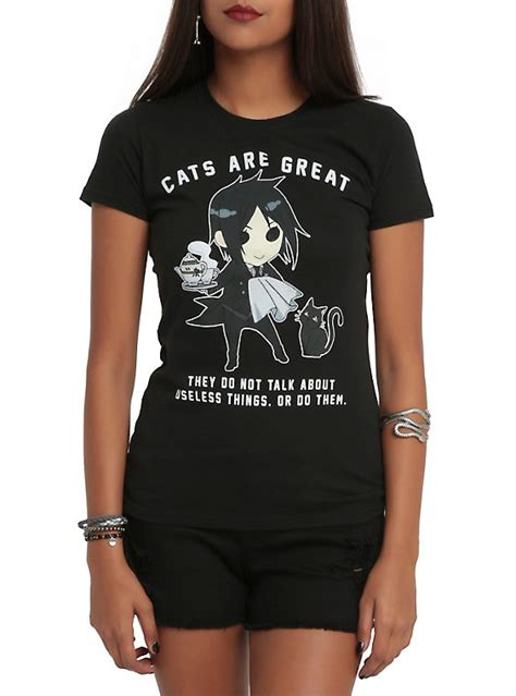 black butler cats are great t shirt topic
