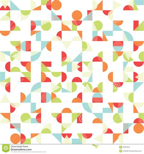 abstract shape pattern vector vector abstract funky background seamless pattern stock