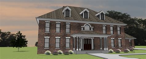 2 Story House Plans With Master On Second Floor by Georgian Manor Heislen Designs