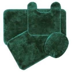 Royale hunter green bath rug ensemble bedbathhome com