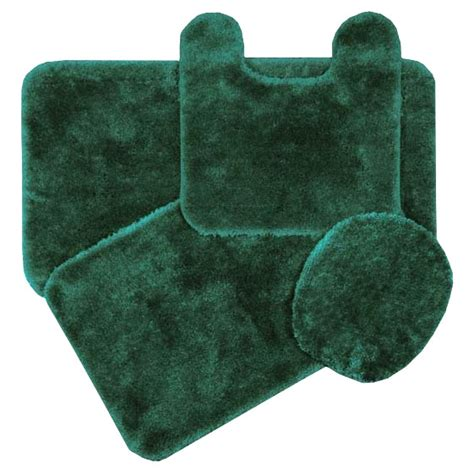 Royale Hunter Green Bath Rug Ensemble Bedbathhome Com Forest Green Bathroom Rugs