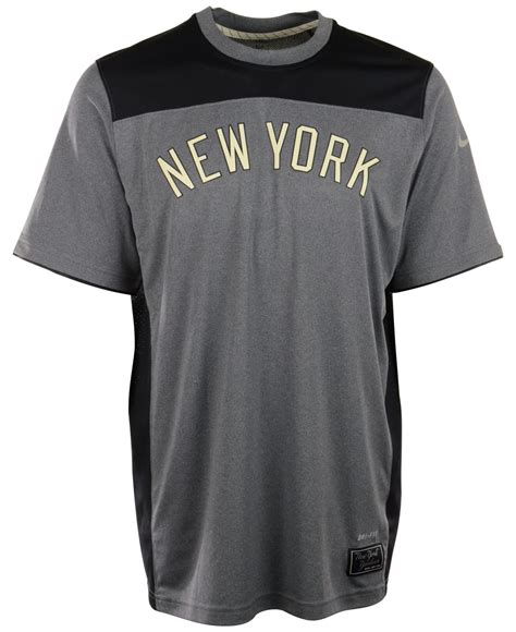Tshirtt Shirtkaos Nike Ny Black nike s sleeve new york yankees dri fit t shirt in black for lyst