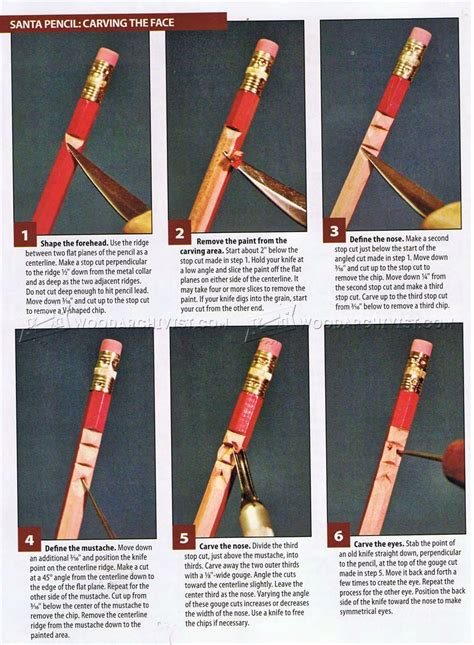 whittling santa pencils wood carving patterns