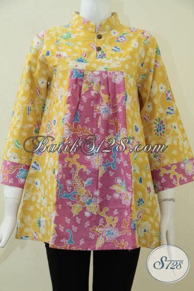 Blus Rok Batik Warna Kode Ba5281 baju blus batik model terbaru tahun ini busana batik