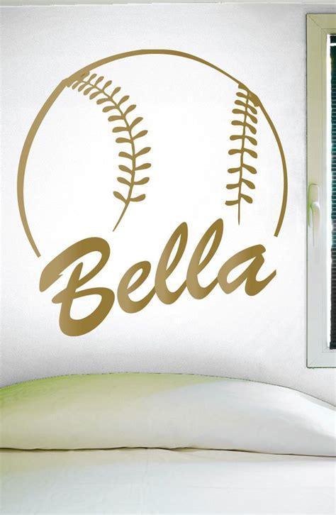 softball wall stickers custom softball name wall decal 0125 personalized softball name wall decal softball