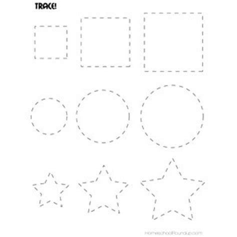 printable dotted line shapes 6 best images of printable preschool tracing lines sheets