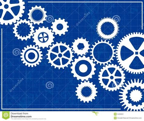 blueprint vector stock photo image 9031930 blueprint background with cogs stock vector illustration