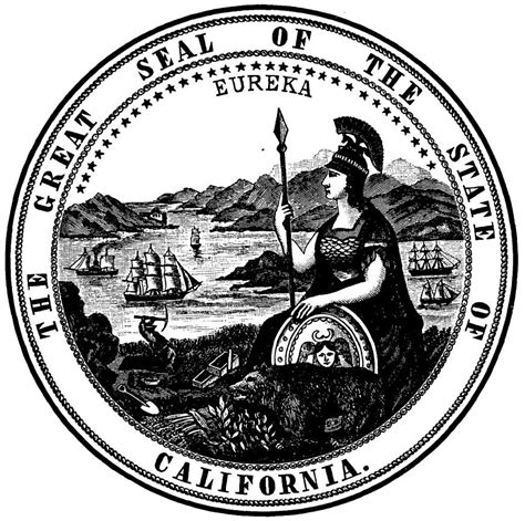 California State Records File Seal Of California 1895 From The California Blue Book Page 299 Jpg