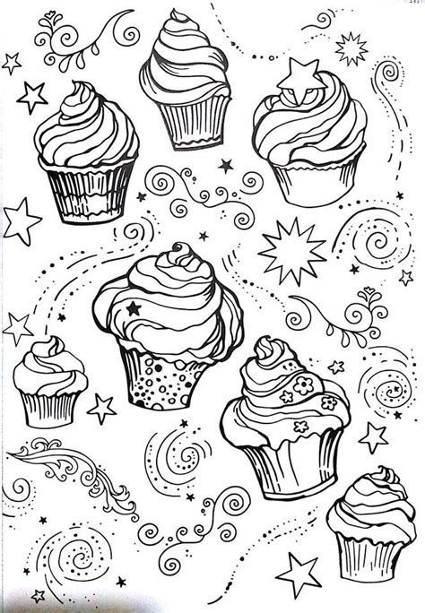 coloring pages for cupcakes cupcakes pages 125 coloring page livro de colorir
