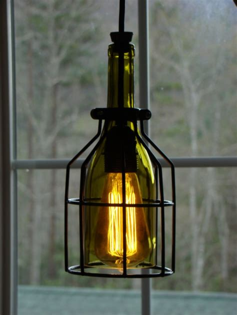 Wine Bottle Pendant Light Cage Wine Bottle Pendant Light Aftcra
