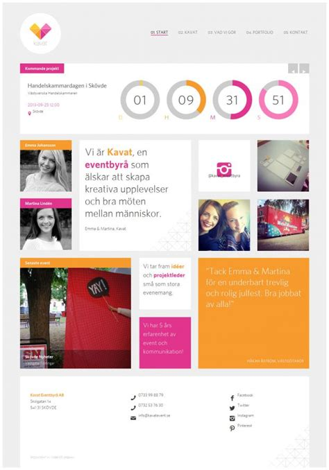 design web layout with fireworks kavat events and marketing webdesign inspiration www