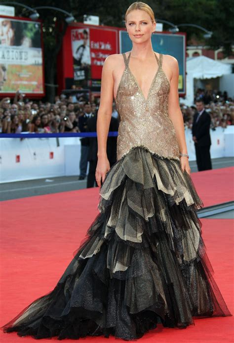 Festival Fashion Brangelina And Charlize Hit The Carpet In Venice And Deauville by Charlize Theron Carpet Charlize