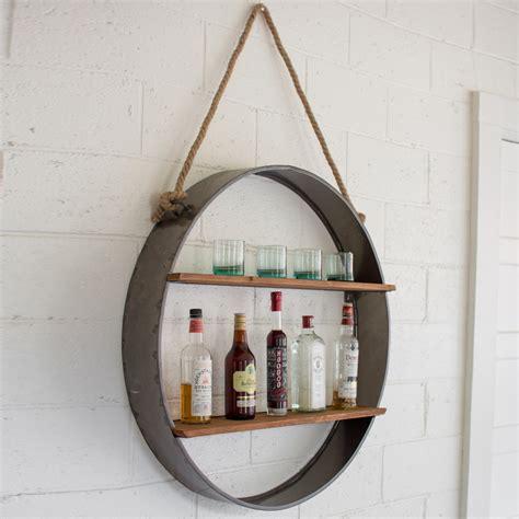 Decorative Canisters Kitchen by Kalalou Metal Circle Wall Shelf Cq6904