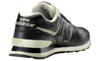 New Leather Scarpe New Balance 574 Leather Nere Aw Lab