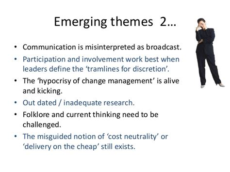 Emerging Themes Definition   researching developing best practice for major