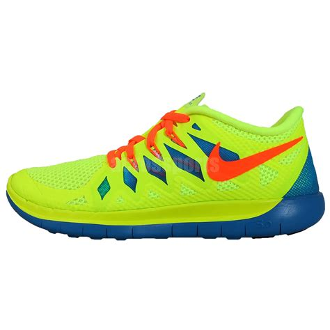 youth boys athletic shoes nike free 5 0 gs volt crimson blue 2014 youth boys